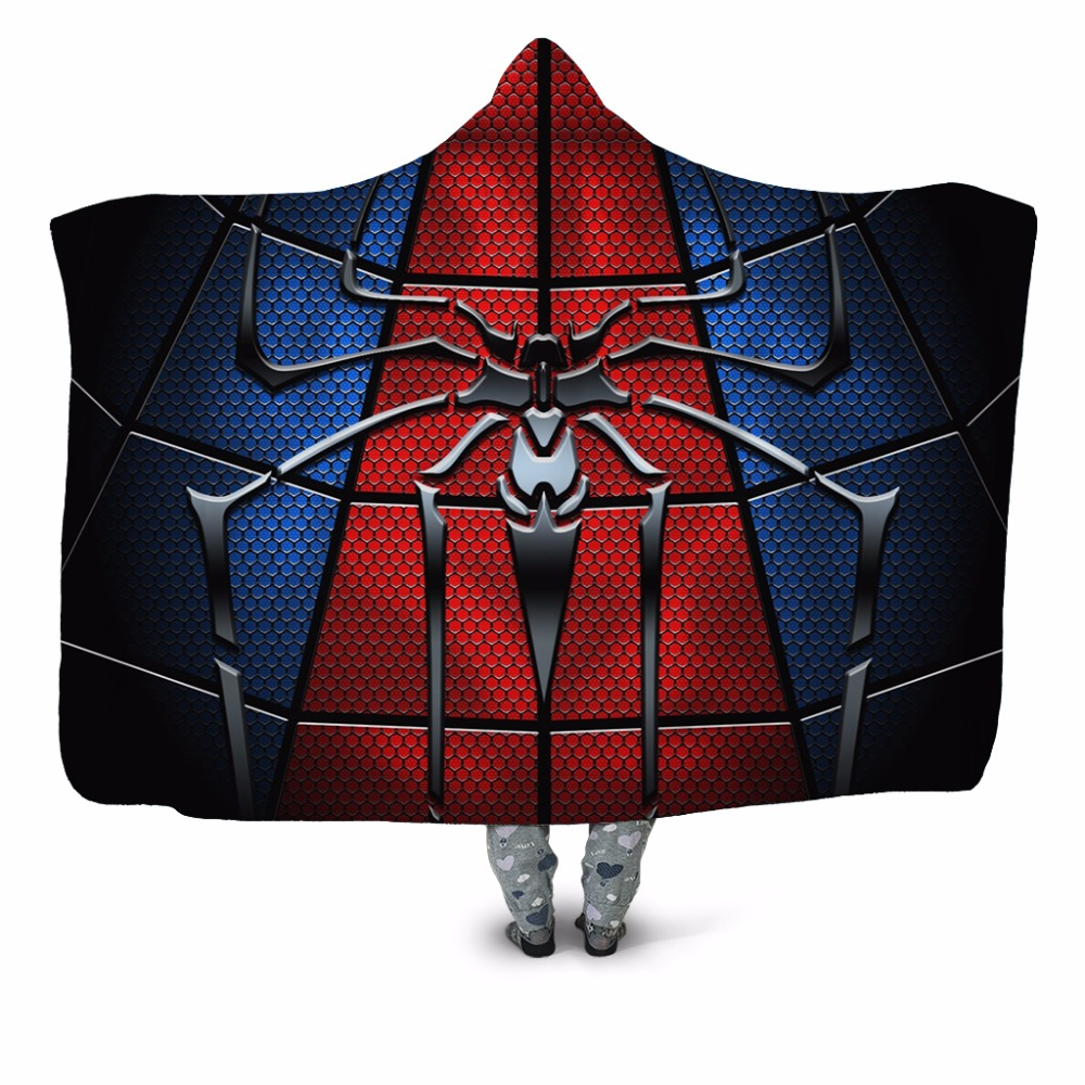 Walking Spider 3D Printed Plush Home Office Hooded Blanket for Adult Child Washable Warm Sofa Cloak Velet Fleece Throw Blanket Walking Spider 3D Printed Plush Home Office Hooded Blanket for Adult Child Washable Warm Sofa Cloak Velet Fleece Throw Blanket