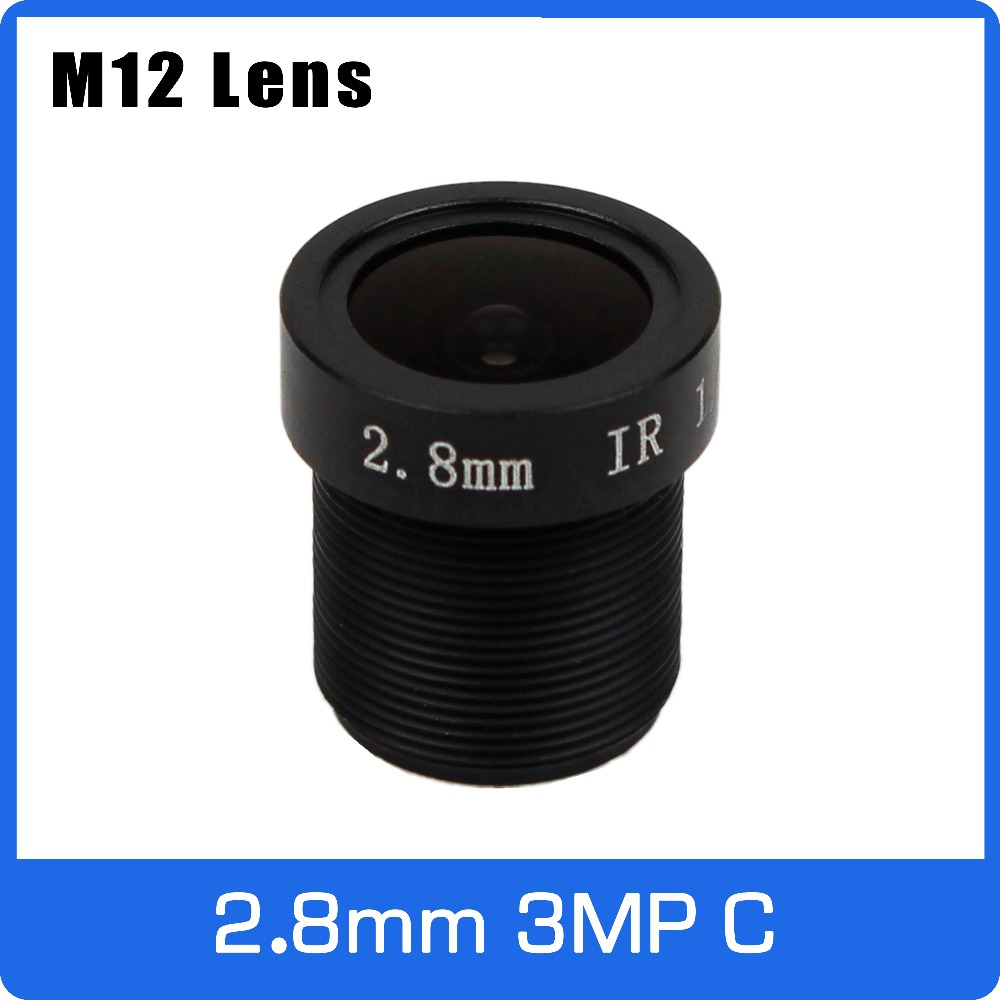 3Megapixel M12 Fixed 1/2.7 Inch 2.8mm 140 Wide Angle CCTV Lens For HD 1080P CCTV Camera Free Shipping