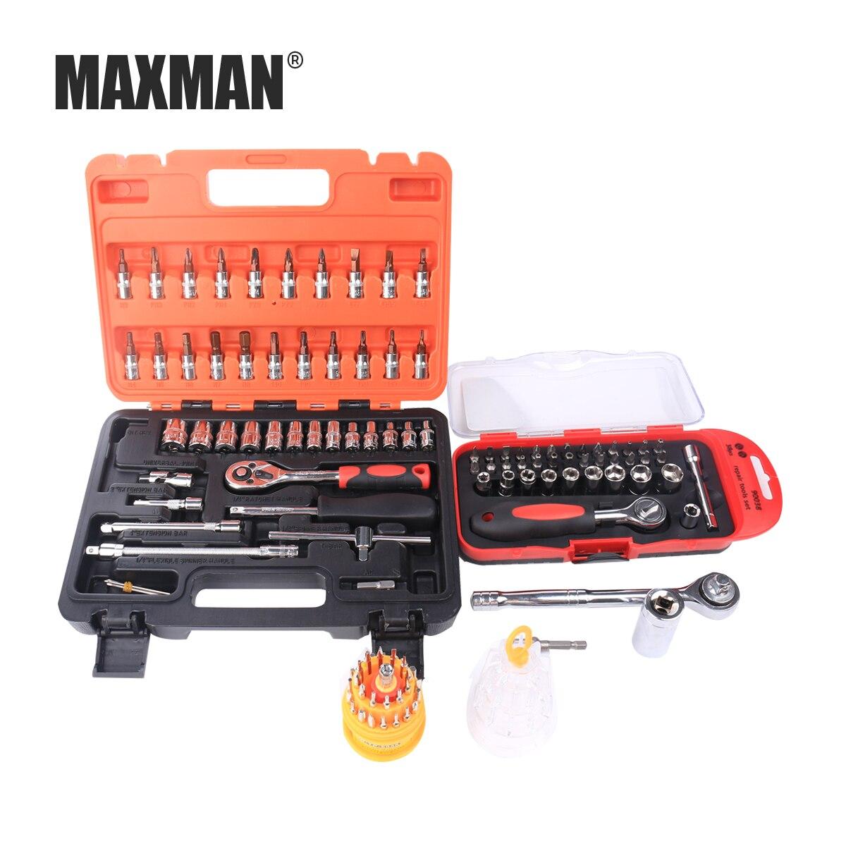 MAXMAN tamanho Multi-Soquete Catraca Torquímetro Barra de Extensão Brocas Ferramentas de Reparação de Automóveis Kit Multifunction Hand Tool Kit