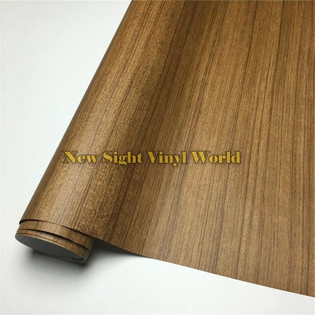 Acacia Wood Grain Adhesive Vinyl Sheet For Floor Furniture Car Interier Size