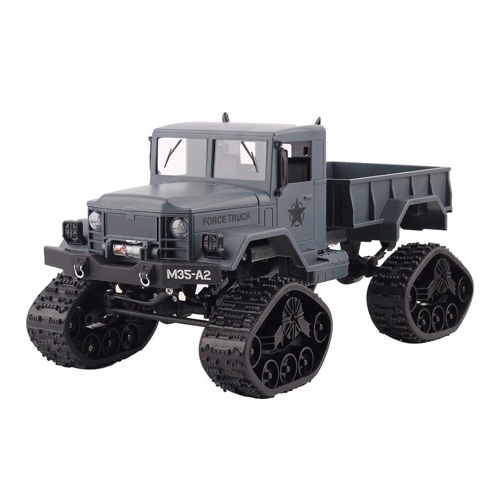 2.4G pilot zdalnego sterowania wspinaczka Model samochodu dla dzieci RTR 1/16 pilot wojskowy ciężarówka 4 koła jazdy Off Road RC Model chłopiec prezent zabawka w Samochody RC od Zabawki i hobby na  Grupa 1