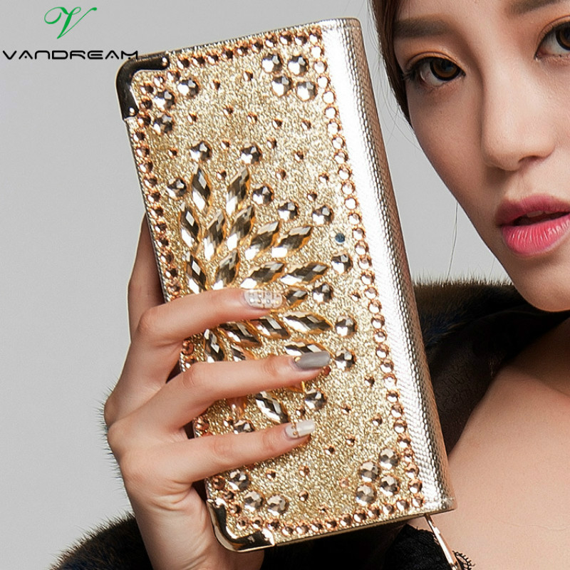 2016 Fashion Women Wallets Handbag Solid PU Leather Diamond Long Bag Black Gold Clutch Lady Brand Cash Phone Card Coin Purse yuanyu 2018 new hot free shipping real python leather women clutch women hand caught bag women bag long snake women day clutches