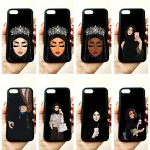 Muslim islamic gril eyes soft silicone edge mobile phone cases for appl