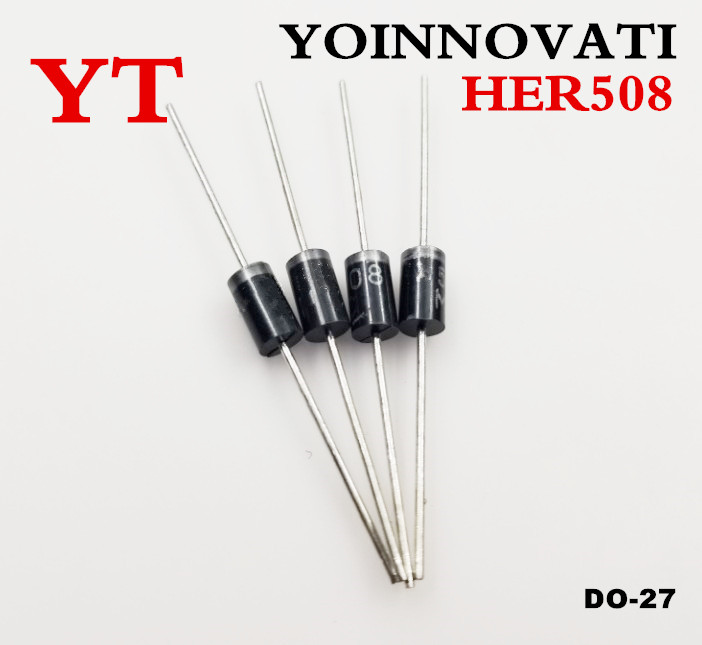 Free shipping 20pcs /lot <font><b>HER508</b></font> 5A 1000V DO-27 High efficiency rectifier <font><b>diode</b></font> . image