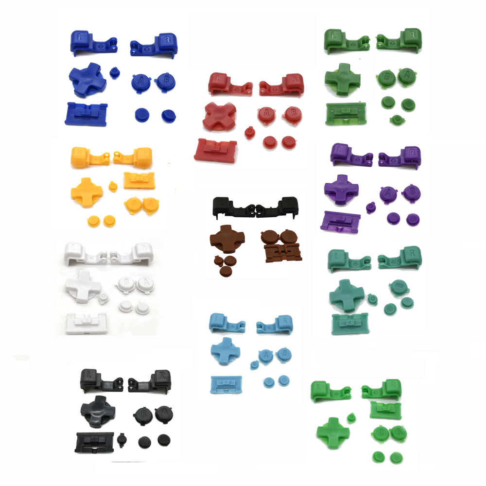 9 In 1 Full  Game Buttons Kit Replacement Parts For Gameboy Advance SP  For GBA SP Repair Parts  A B Select Start Power On Off