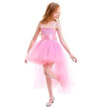2019 children Flower Girl Dress Performance High Low Hem Tulle Tutu Princess Dress Cute Wedding Birthday Party Dresses for Girls high quality baby girl dress vest tutu party dress children princess bow flower girls dresses for party and wedding page 7