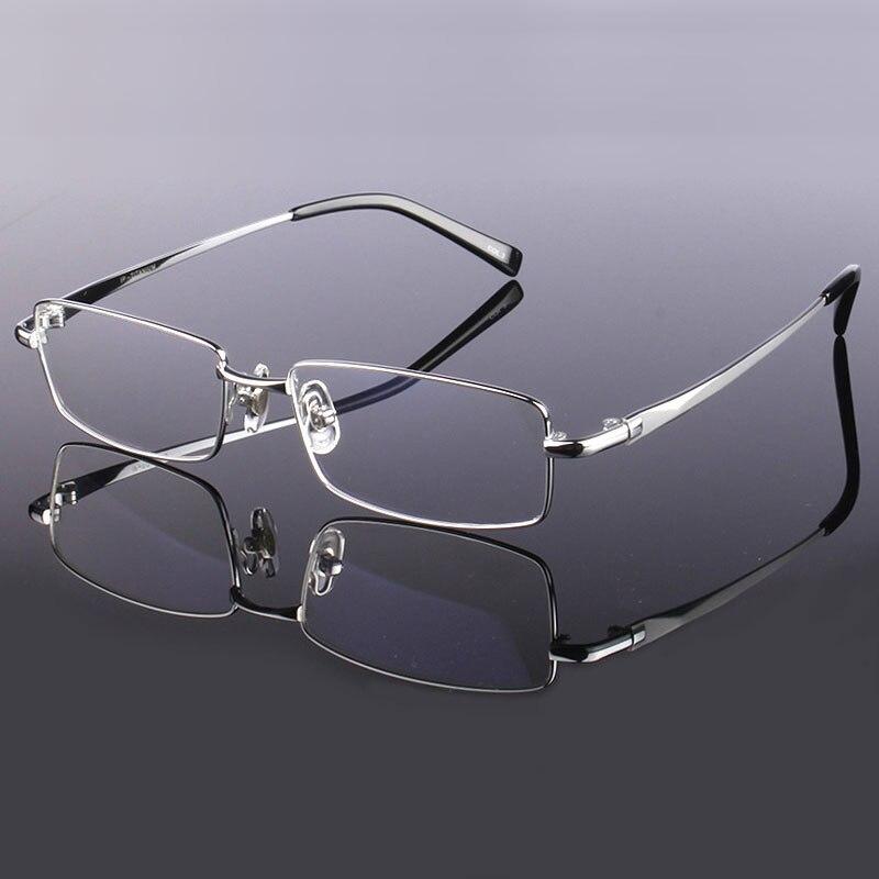 Image 5 - Handoer Men Eyeglasses Frame Pure Titanium Optical Glasses Prescription Spectacles Full Rim Eyewear Metal Frame Glasses Frame-in Men's Eyewear Frames from Apparel Accessories