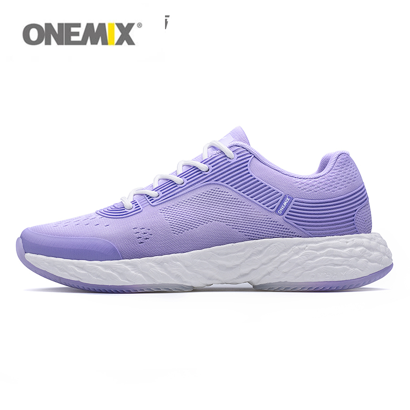ONEMIX woman running shoes for women sports sneakers fitness jogging girl Jacquard vamp E TPU technology high elastic outsole