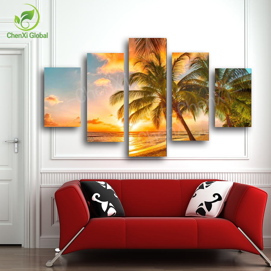 Painting Canvas For Living Room Online Buy Wholesale Sunset Wall Painting From China Sunset Wall