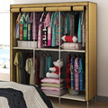 Cabinet goods widened tuba family wardrobe simple dust cloth with zipper 6 to increase space for hanging clothes