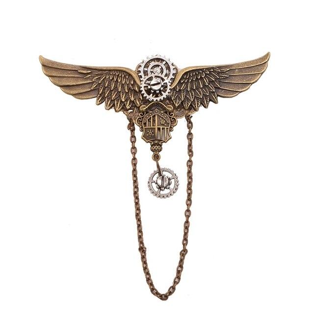 Заколка с крыльями металлическая 1