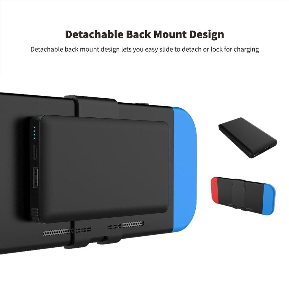Batterie externe 10000 mAh pour Console de commutation ntint batterie externe pour Nintendo Switch chargeur rapide pour iPhone Android pour iPad - 4