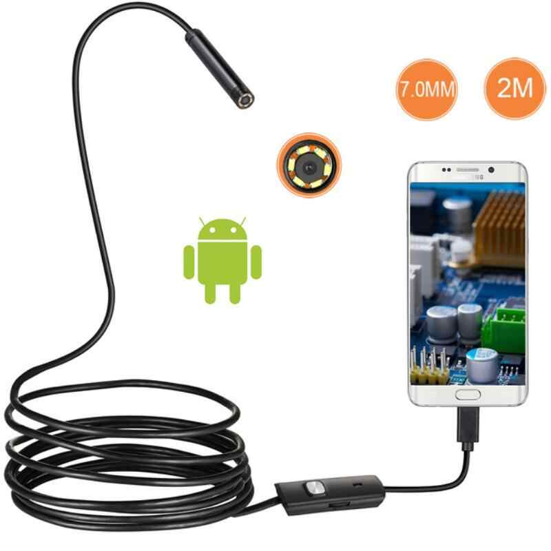 7mm Lens Android OTG USB Endoscoop Camera 2M Smart Android Telefoon USB Borescope Inspectie Snake Tube Camera 6LED