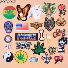 ZOTOONE Star Wars Patch Iron On Tiger Skull Military Patches For Clothing Backpack Applique Embroidery Flower Parches Stickers E