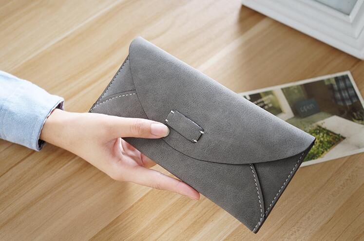 M384 Ms Long Wallet Female Thin Type Of Frosted Zero Wallet Lady's Hand Bag Students Wallet Restoring Ancient Ways Wholesale ledai wallet female long style thin personality ultra thin american japanese students simple women clutch bag crocodile skin ba