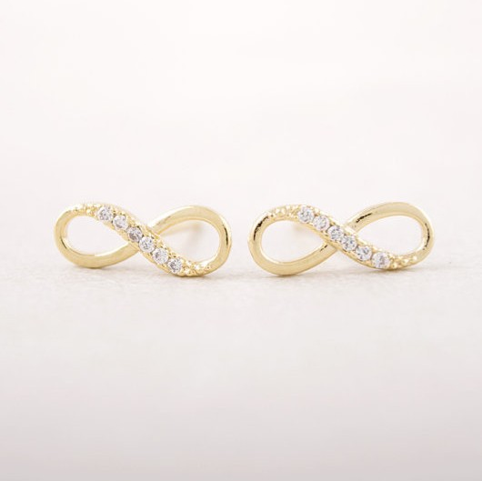 Fashion Zircon Infinity Symbol Stud Earrings Whole Free Shipping In From Jewelry Accessories On Aliexpress Alibaba Group
