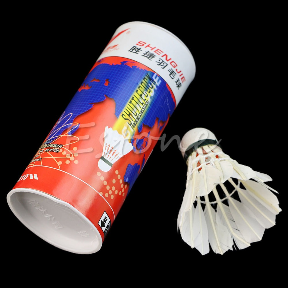 3pcs Training White Goose Feather Shuttlecocks Badminton Game Sport Competition Drop Shipping