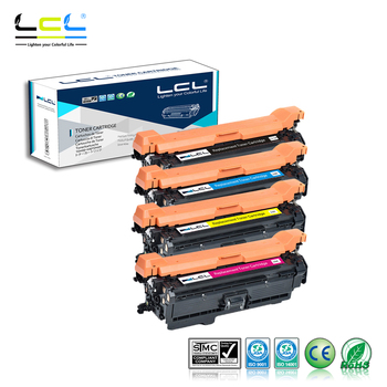 LCL 651A CE340A CE341A CE342A CE343A 651 (4-Pack Black Cyan Magenta Yellow) Toner Cartridge Compatible for HP PRO 700/M775