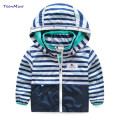 Kids Striped Toddler boys Jackets Spring Autumn Hooded Coat Clothes For Children Outerwear Blazer Minnie Baby Boy Windbreaker
