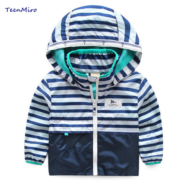 6934d4dce6a3 Kids Striped Toddler boys Jackets Spring Autumn Hooded Coat Clothes For  Children Outerwear Blazer Minnie Baby Boy Windbreaker-in Jackets   Coats  from ...