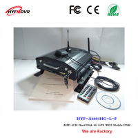 4G car video recorder GPS WiFi Positioning monitor host 4CH hard disk mdvr support Swedish / Iceland language
