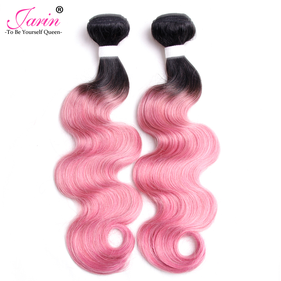 Ombre Pink Body Wave Cheap Malaysian Human Hair 2 pieces/lot Free Shipping Remy Two Tone 1B/Pink Color Hair Weave Extensions ...