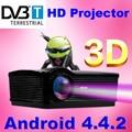 ATCO 5500 Lúmenes Mejor Profesional Viedo de cine en casa Proyector 5000: 1 Android 4.4 WiFi Portátil proyectores HD 1080 p TV 1280*800