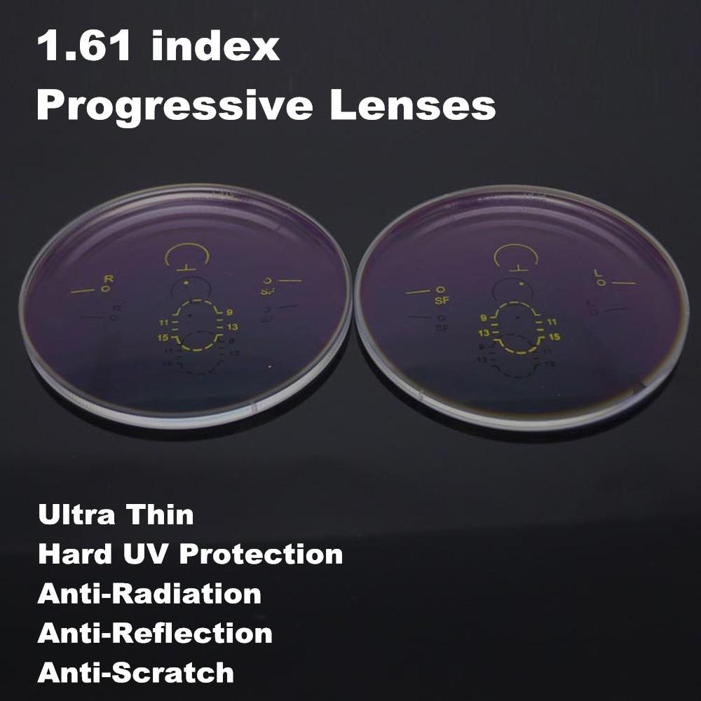 2 ピース 1.61 インデックス超薄型プログレッシブ遠近両用マルチフォーカス非球面処方レンズ CR 39 UV 反射防止コーティングメガネ  グループ上の アパレル アクセサリー からの アクセサリ の中 1