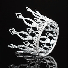 Royal Bride Tiara Crown Women Headdress Diadem for Bridal Wedding hair Jewelry Pageant Tiaras and Crowns Hair Accessories