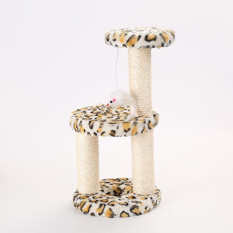 Chat jouet Sisal gratter arbre d'escalade trois couches sautant jouet avec fausse souris Scratch conseil escalade cadre chat meubles