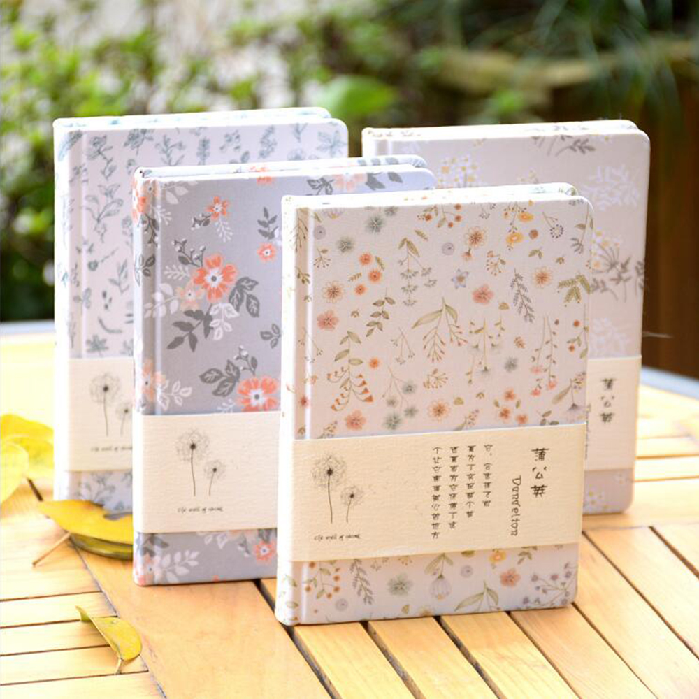 Fabric Hardcover Flower Blank Notebook Creative Lovely Planner Office School Stationery Organizer Student Diary Graffiti Book b5 vintage blank notebook creative high quality student diary daily painting graffiti sketching book office school note planner