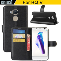 10 Pcs Lot Wallet PU Leather Case Cover For BQ V Flip Protective Phone Back Shell