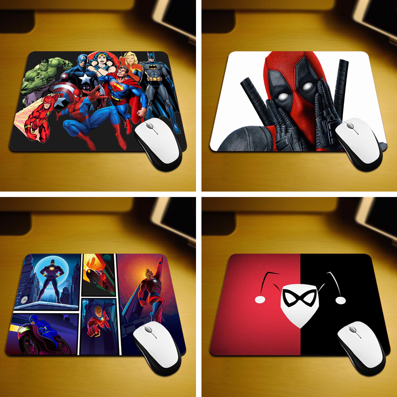 Superheroes Game New Small Size Computer desktop Mouse Pad Non-Skid Rubber Pad 220mmX180mmX2mm and 250mmx290mmx2mm Mouse Pads