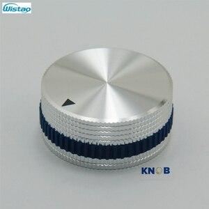 Image 1 - IWISTAO Katı Potansiyometre Topuzu Tüm Alüminyum HIFI Karıştırma Anahtarı Ses Çapı 40mm Yüksek 18mm Gümüş DIY Ücretsiz kargo
