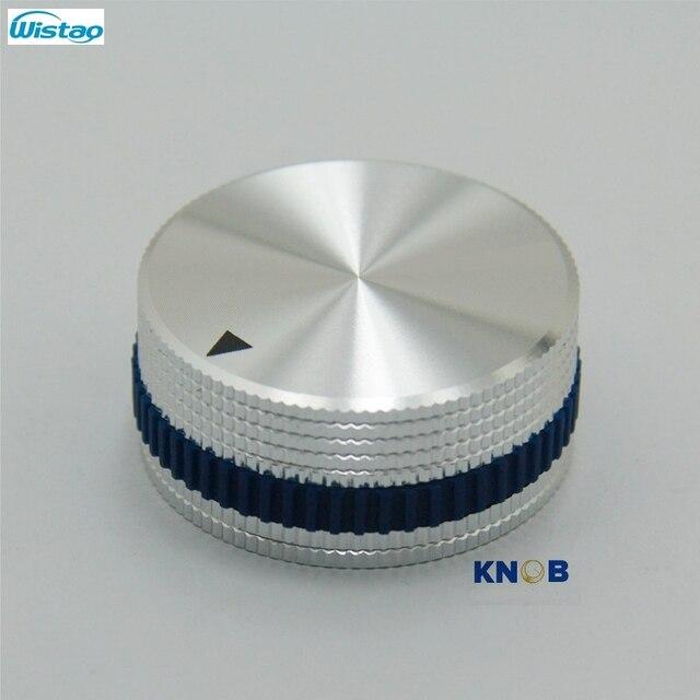 IWISTAO Katı Potansiyometre Topuzu Tüm Alüminyum HIFI Karıştırma Anahtarı Ses Çapı 40mm Yüksek 18mm Gümüş DIY Ücretsiz kargo