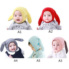 b13ad28129b Cute Rabbit Ears Baby Girl Hat Knit Soft Newborn Photography Baby Bonnet  Warm Winter Hats Beanie Cap Baby Boys Girls