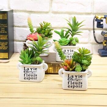 Mini plantas artificiales falsas flores adornos para Navidad bodas para el hogar plantas artificiales