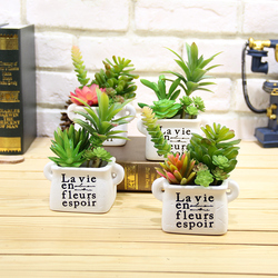 Suculentas artificiais lifelike mini plantas artificiais falso flores de natal decorações de casamento para casa plantas artificiais