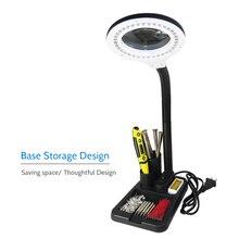 6W 40LED 5X/10X 돋보기 유리 가제트 저장소 디자인 책상 램프 옆에 빛 돋보기 렌즈 인쇄 LED 책상 램프