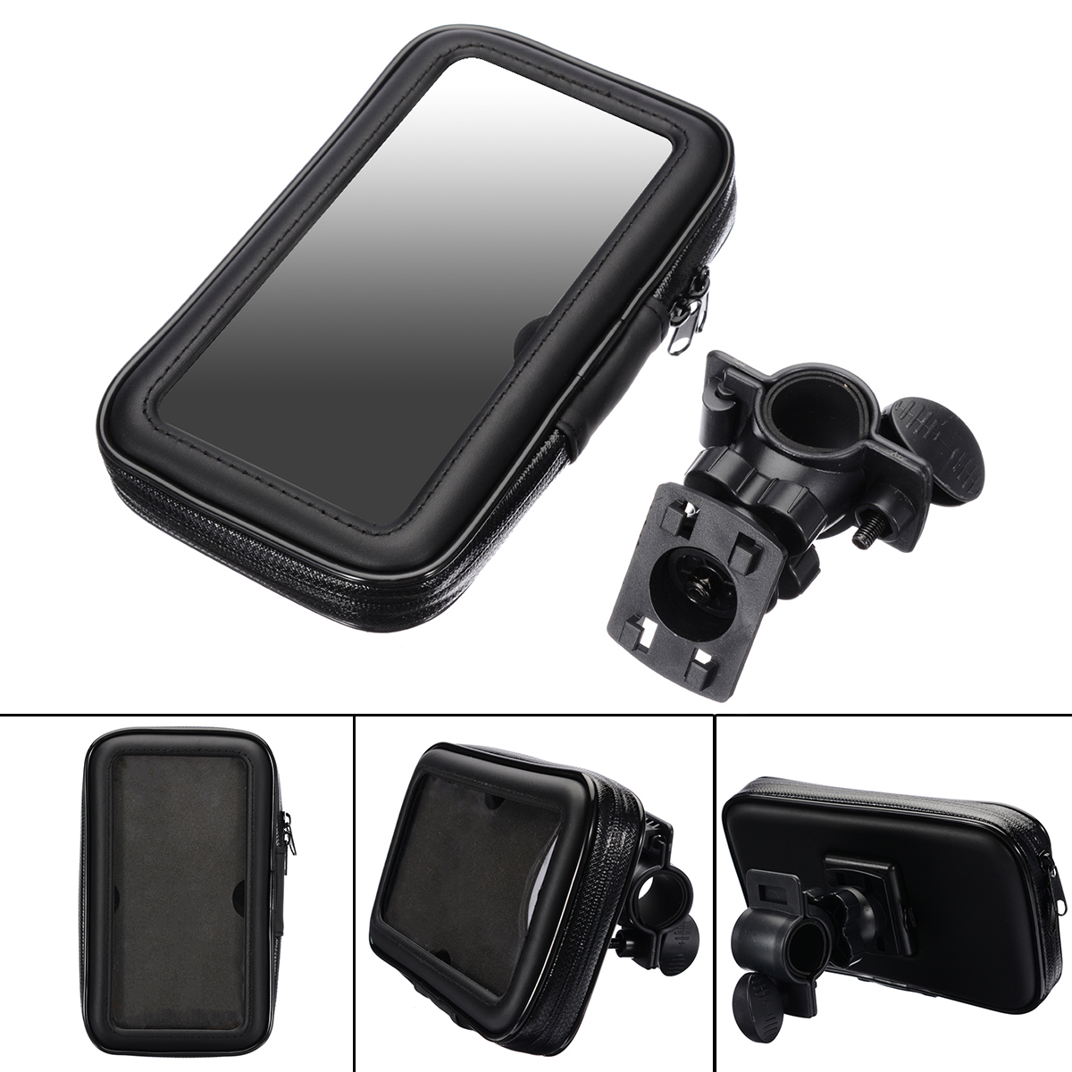 "Image 5 - 1PC Motorcycle Bike Bicycle Waterproof Phone GPS Case Bag Handlebar Mount Holder 15 x 8.5 x 2.5cm For Mobile Phones Without 5.5""-in GPS Stand from Automobiles & Motorcycles"