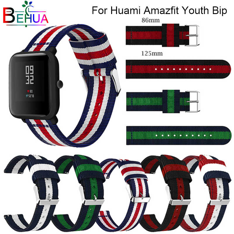 classic nylon For Amazfit Bip youth strap with buckle belt instead for Huami Amazfit Bip wristband millet watch Band Strap Belt