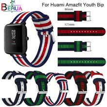 classic nylon For Amazfit Bip youth strap with buckle belt instead for Huami wristband millet watch Band Strap Belt