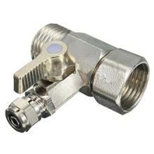 RO Feed Water Adapter 1/2 to 1/4 Ball Valve Faucet Tap Reverse Osmosis Silver