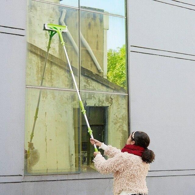 New Telescopic High-rise Cleaning Glass Sponge Mop Multi Cleaner Brush Washing Windows Dust Brush Easy Clean the Windows Hobot 5