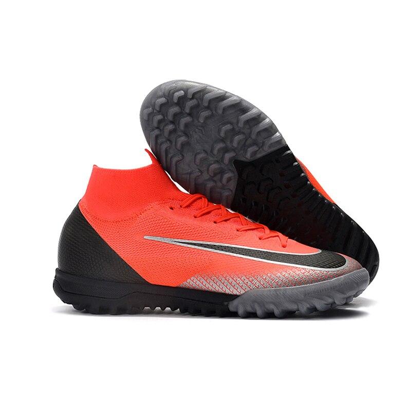 Sufei Futsal Gazon Football Adulte Bottes de Football Chaussures Dentelle-up Superfly VI Elite D'origine Crampons D'athlétisme Sport Sneakers