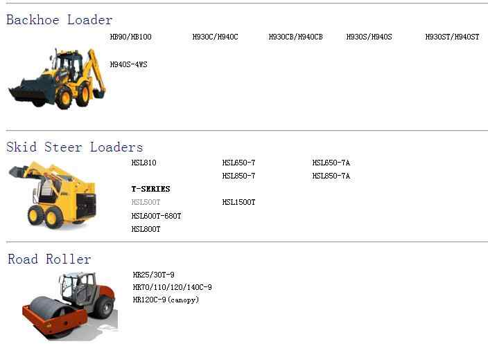 for hyundai robex construction equipment service manuals and