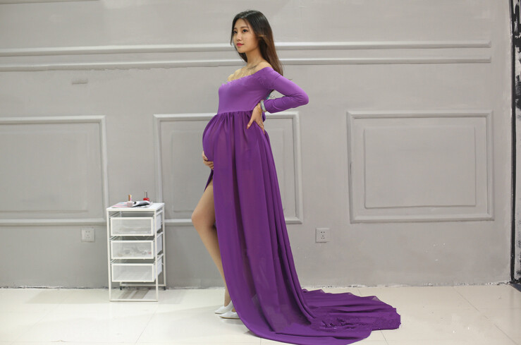 ᐂFashion Maternity Photography Props Fancy Maternity Dresses ...