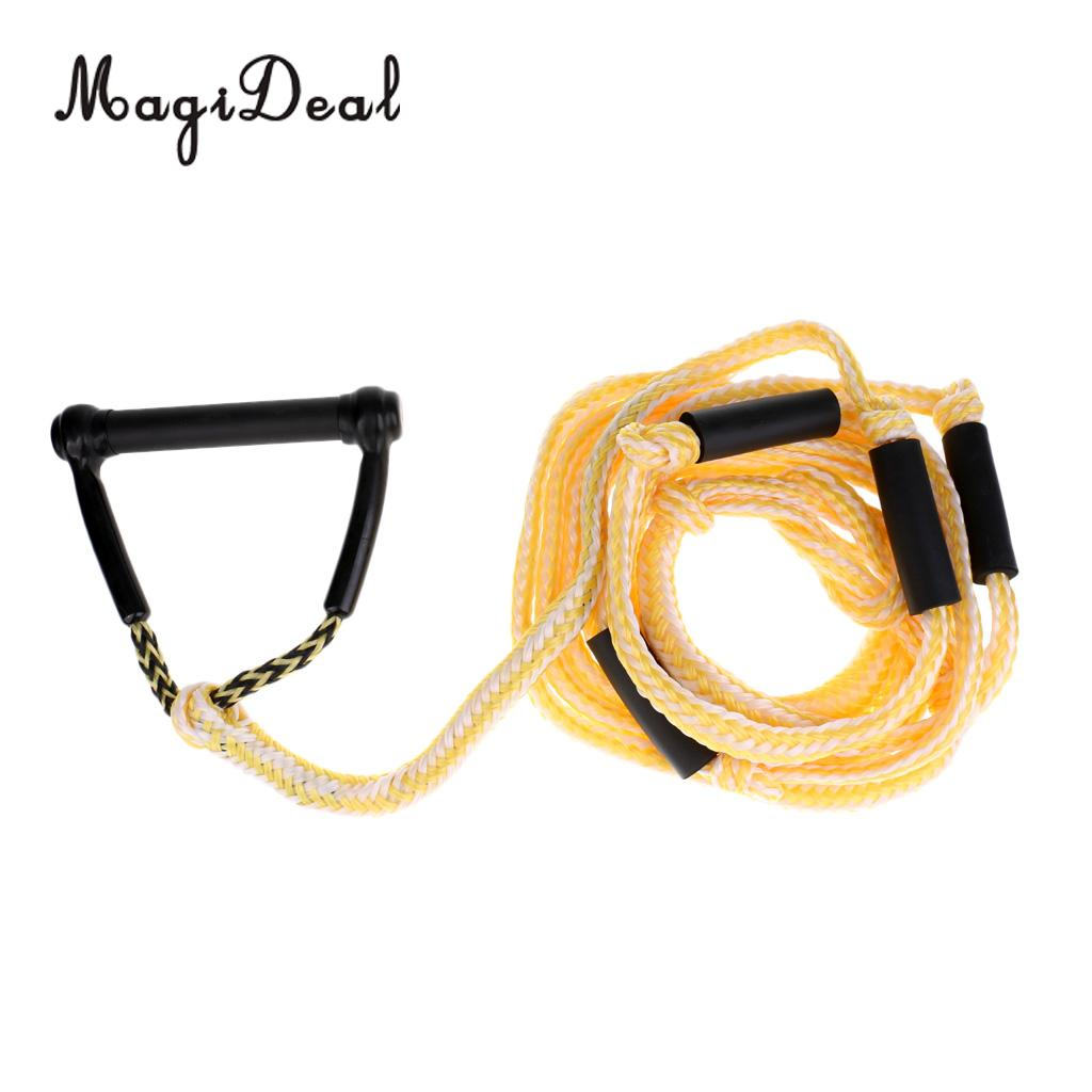 MagiDeal Universal 24ft Water Ski Rope Tow Harness Rope with Handle for Wakeboard Knee Board Surfing magideal universal 24ft water ski rope tow harness rope with handle