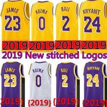 e694a7b15fc6 2019 New 23 LeBron James jersey 0 Kyle Kuzma 2 Lonzo Ball 14 Brandon Ingram 24  Kobe Bryant JERSEYS