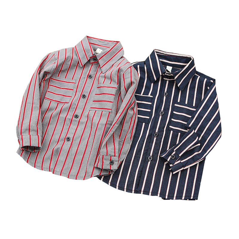 Casual Striped <font><b>Shirts</b></font> for Baby <font><b>Boys</b></font> Autumn Children Clothing Cotton Toddler Kids Blouse Little <font><b>Boy</b></font> <font><b>Shirt</b></font> Age 2 3 4 5 6 <font><b>7</b></font> <font><b>Years</b></font> image